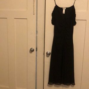 Liz Claiborne long black evening gown black size 8